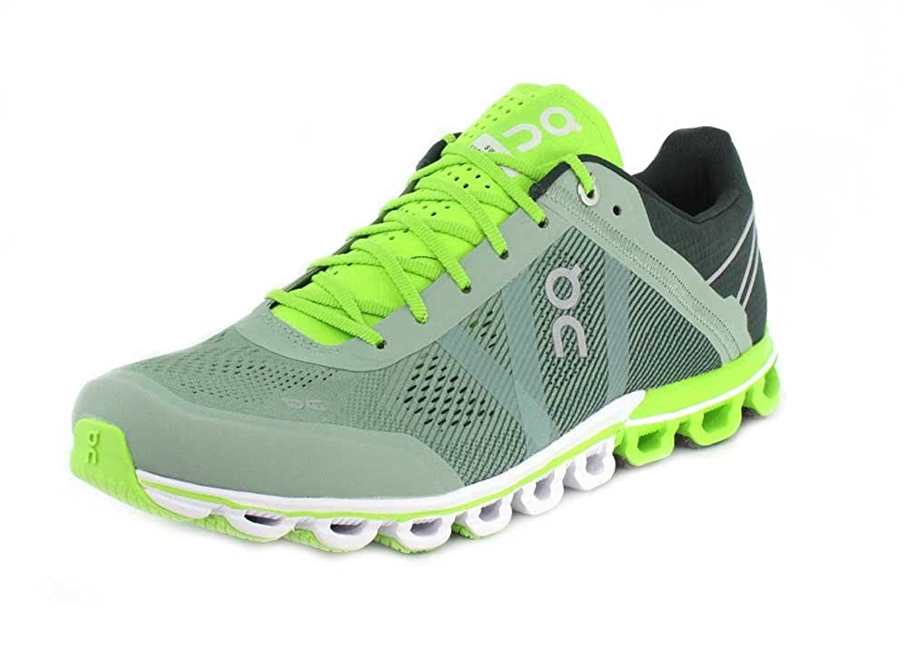 super popular 9d192 5d2cb On Running Mens Cloudflow Shoes, Moss/Lime (10.5 M US)