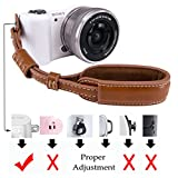 LXH Camera Wrist Strap Grip, PU Leather Mirrorless / DSLR Camera Hand Strap For Sony A6500 / A6300 / a6000 / RX100 V / RX100M III / RX100M4 / Fujifilm X30 X100F / X100S / X100T X-T20 XT10 X70 (Brown)