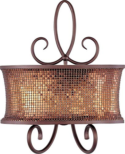 Maxim 24168SBUB Alexander 2-Light Wall Sconce, Umber Bronze Finish, Glass, CA Incandescent Bulb , 16W Max., Dry Safety Rating, 3100K Color Temp, Acrylic Shade Material, 1360 Rated Lumens