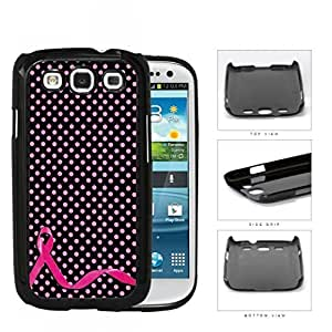 Breast Cancer Pink Ribbon Polka Dots Hard Plastic Snap On Cell Phone Case Samsung Galaxy S3 SIII I9300