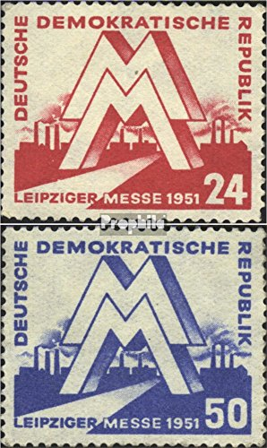 DDR 282-283 (Complete.Issue.) 1951 Leipzig Spring Fair (Stamps for Collectors)