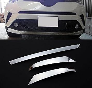 per C-HR CHR 2016-2019 Hybrid ABS cromato anteriore inferiore griglia griglia copertura Trim 1PCS