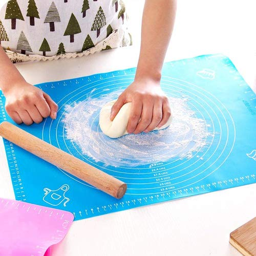 Willrise Supply Silicone Baking Mat Pastry Mat No Stick for Rolling with Measurements, Liner Heat Resistance Pad Pastry Board, Reusable Baking Mat for Housewife