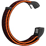 FUNKID Replacement for Nylon Band Fitbit Alta//Fitbit Alta HR Smartwatch Wristbands with Breathable Loop Adjustable Closure