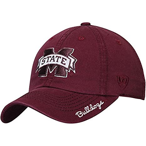 c52e1125467 Image Unavailable. Image not available for. Color  Mississippi State  Bulldogs Top of the World Women s Crew Adjustable Hat - Maroon