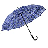 Guoke The Grid, Long Curved Handle, Increasing 10 Bone Double Umbrella Umbrellas With Two Fine Rain, 12 Men And Women.