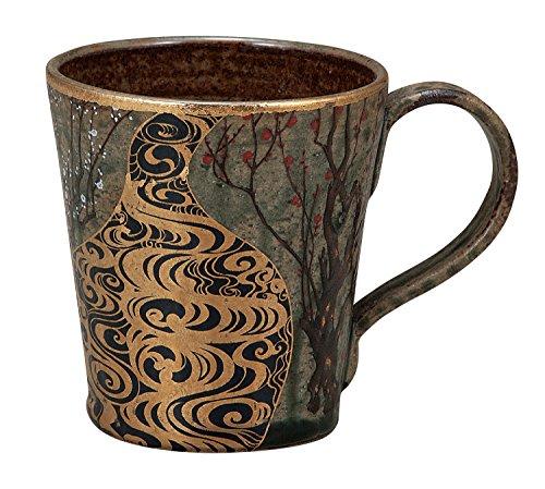 Kutani Pottery Ino Seiho Kourinume Japanese Plum Trees Mug Cup K4-889 by Kutani Pottery