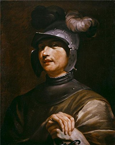 Maria Von Trapp Costume (Perfect Effect Canvas ,the High Quality Art Decorative Canvas Prints Of Oil Painting 'Giuseppe Maria Crespi,Young Man With A Helmet,1725-1730', 24x30 Inch / 61x77 Cm Is Best For Nursery Gallery Art And Home Gallery Art And Gifts)