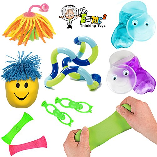 10 Sensory Processing Toys - Tools; Tangle Jr, Marble Fidgets, Therapy Putty; Kids and Adults