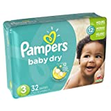 Pampers Baby Dry Diapers Size 3 Jumbo Pack, 32 ct