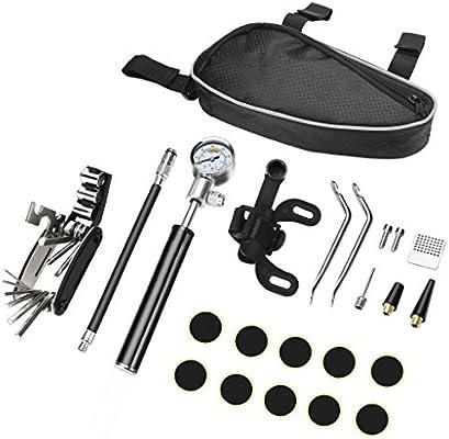 SLONG Kit de reparación de Bicicletas con Bomba-Bicicleta Multi ...