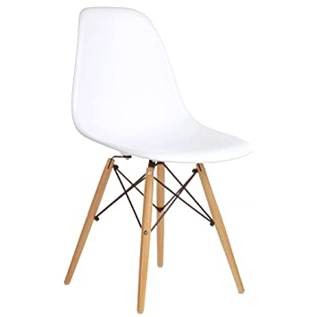 Charles Eames DSW Side Chair, Mid Century Modern, White