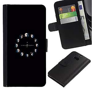 LECELL--Cuero de la tarjeta la carpeta del tirón Smartphone Slots Protección Holder For HTC One M8 -- Tronos Serie --