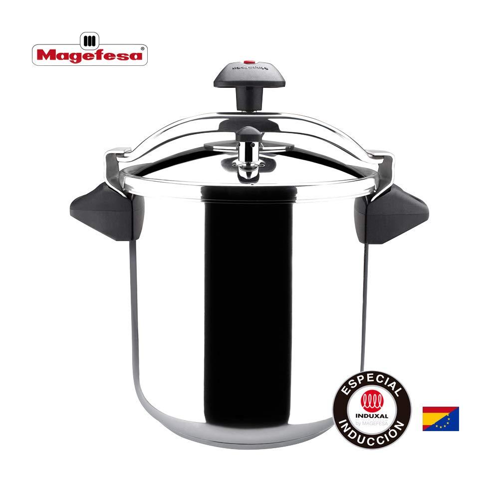 MAGEFESA INOXTAR Olla a presión rápida, acero inoxidable 18/10, apta para todo tipo de cocinas, incluido inducción.: Amazon.es: Hogar