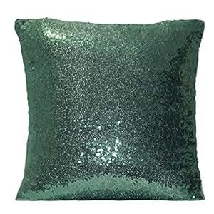 Lentejuelas funda de almohada, ubabamama color sólido Glitter Partido manta almohada Cafe decoración para el hogar protectores de fundas de cojín