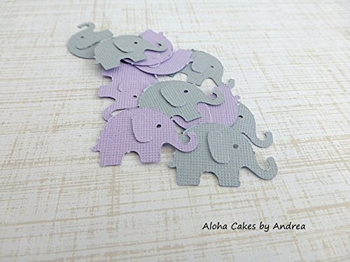 Elephant Confetti, Lavender And Gray, Baby Shower Decorations, Itu0027s A Girl Baby  Shower