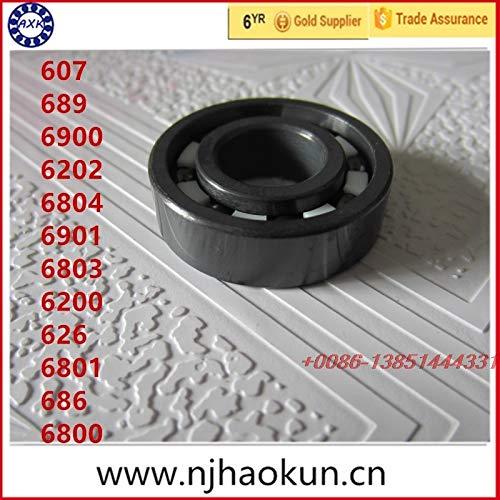 Ochoos 2017 New Thrust Bearing 1pcs 607 689 6900 6202 6804 6901 6803 6200 626 6801 686 6800 Full Si3n4 Ceramic Bearing - (Length: 6900)