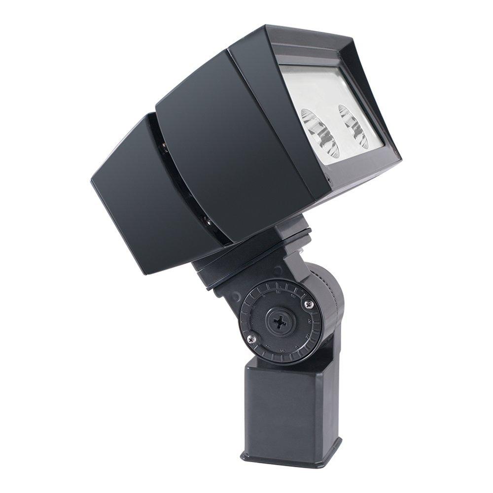 RAB Lighting FFLED52SFNB44/480 FFLED 52W LED Floodlight, 4000 K (Neutral) Color Temp, Slipfitter Mounted, Standard Type, Bronze Finish