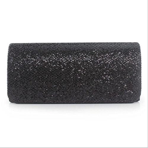 Notte Telefono Argento Quadrato Spalla Semplice Bag Nero colore Selvaggia Brillantezza Messaggero Ragazze Guofeng RqP8wfYR