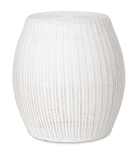 Plow & Hearth Large Outdoor Wicker Ottoman Pouf, 20
