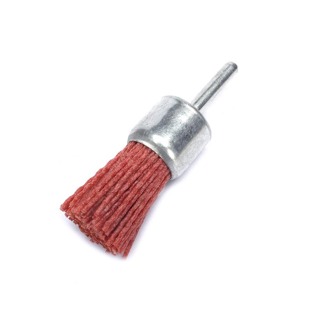 1 25mm Pen Shape Abrasive Nylon End Brush Ratory Tool for Power Drills