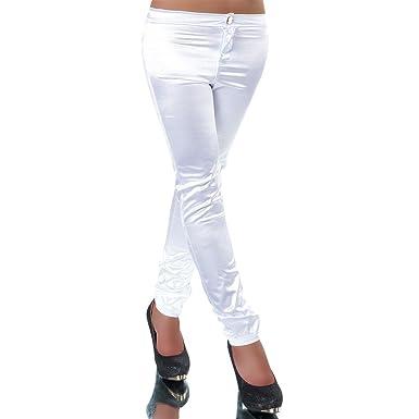 H094 Damen Jeans Hose Damenhose Röhrenjeans Satinhose Satin Röhrenhose Chino,  Farben Weiß, Größen fcba1d7b9e