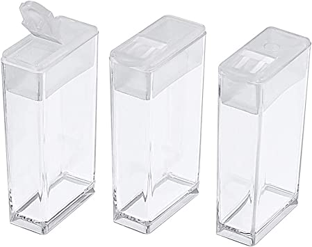 Rectangle Clear Plastic Storage Tubes With Flip Tops 3 Pack of 100