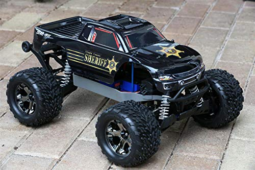 SummitLink Compatible Custom Body Police Style Replacement for 1/10 Scale RC Car or Truck (Truck not Included) ST-PB-01 (Rc Truck Body)