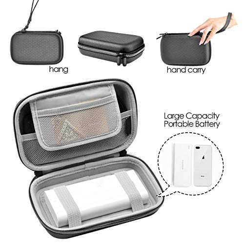 Electronic Organizer Travel Cord Bag Portable – 7.9 Inch Hard Shell Cord Case Shock-Resistant Charger Cable Carry Pouch for PowerCore 20000mAh External Battery or Hard Drive-Black