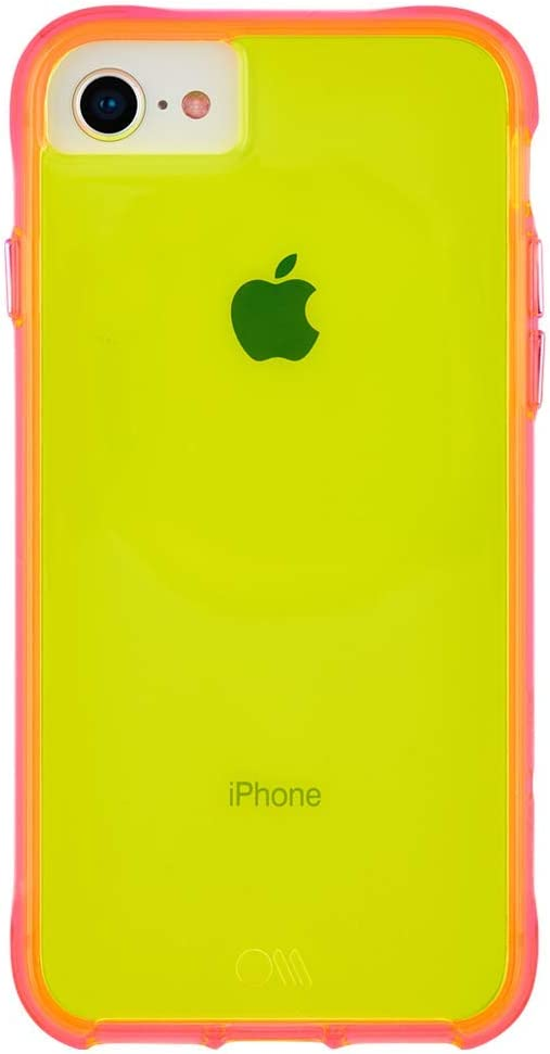 "Case-Mate - iPhone SE (2020) Case - iPhone 8 Case - Neon Case - Tough NEON - Glowing Neon Edge - Design for Apple iPhone 4.7"" - Yellow/Pink Neon (CM039480)"