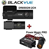 Blackvue DR650GW-2CH Built-In Wi-Fi Full HD Car DVR Recorder, 64Gb With Power Magic Pro - Black