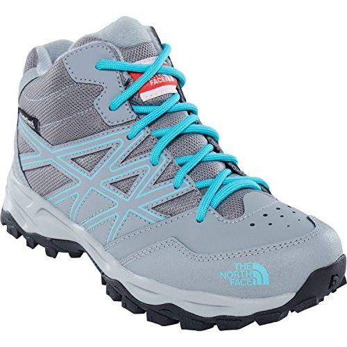 Curacao NORTH Zinc Grey Jr Enfant Chaussures Blue de HH FACE Mixte THE Gris Hautes WP Hiker 4pg Randonnée Mid THF4Zxqw