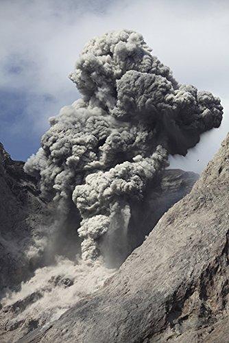 Posterazzi November 28 2012-Dense Grey ash Cloud from Powerful Explosive strombolian Eruption Rising from Active Crater of Batu Tara Volcano Komba Island Indonesia. Poster Print, (11 x 17)