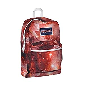 JanSport Women's Overexposed Multi Red Galaxy Backpack