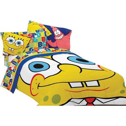SpongeBob SquarePants Scribble Full Comforter and Sheet Set Bedding Collection