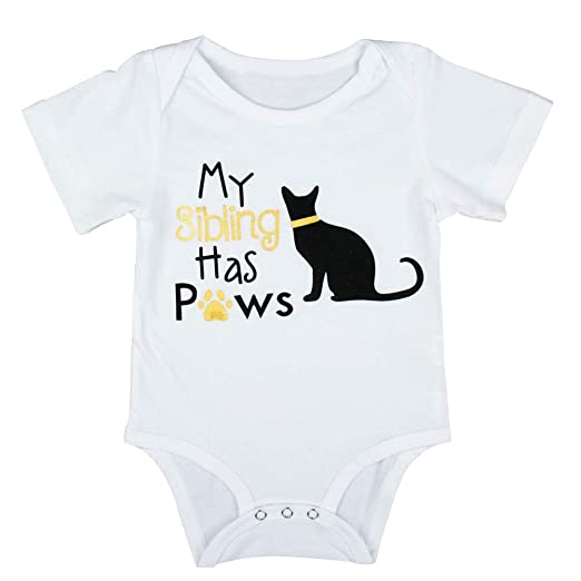 9c6569ad1188 Amazon.com  Cat Letter Romper Toddler Infant Newborn Baby Boys Girls ...