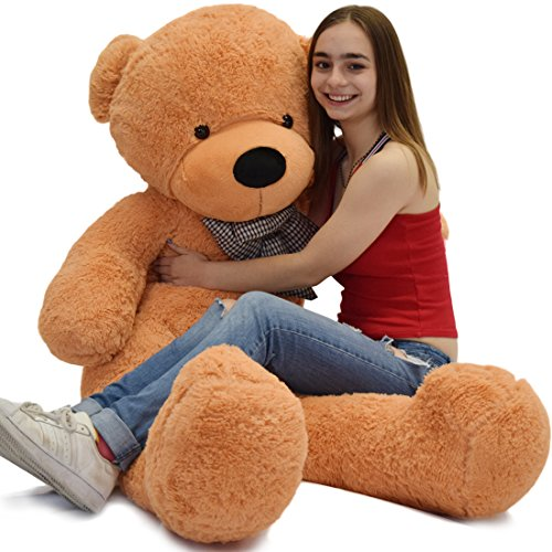 WOWMAX 4 Foot Light Brown Giant Huge Teddy Bear Cuddly Stuffed Plush Animals Teddy Bear Toy Doll 47
