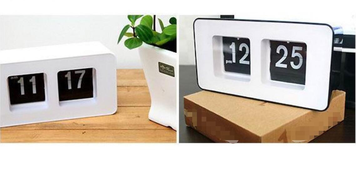 Shuangklei Reloj Despertador Digital Flip Clock Personalidad Sencilla Estudiante Clock Led Cuadrado De Moda Dormitorio.,Blanco: Amazon.es: Hogar