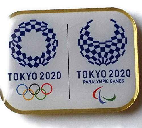 Tokyo 2020 Olympics Paralympics Emblem Pin Badge Square Not for Sale from Japan