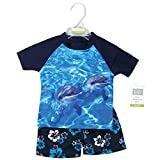 Hudson Baby Unisex Swim Rashguard Set, Boy