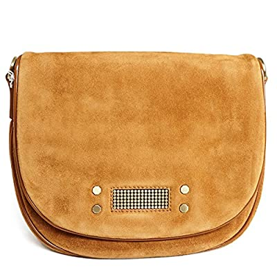 340c817da7 Clio Goldbrenner Paris Mini Suede Bag 56975 Cognac color Women Summer  Collection 2018 durable modeling