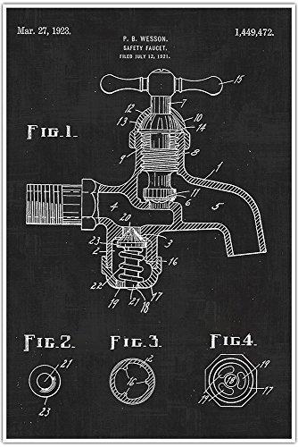 plumbing-faucet-blueprint-patent-patent-poster-blueprint-poster-art-gift-poster-print-patent-poster
