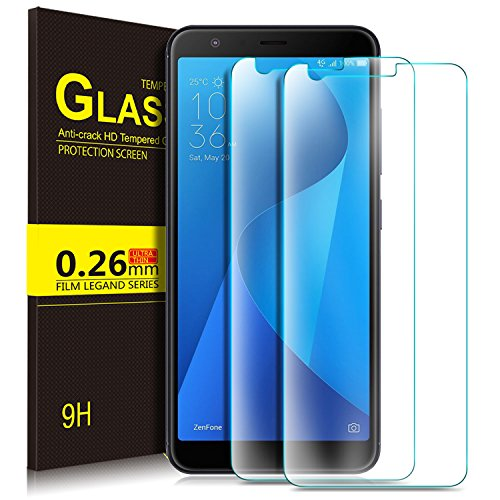 Asus Zenfone Max Plus ZB570TL Screen Protector, KuGi 9H Hardness HD clear Bubble Free Installation Tempered Glass Screen Protector for Asus Zenfone Max Plus ZB570TL phone (Transparent)