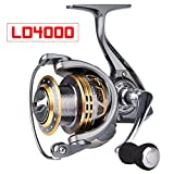 Proberos Spinning Reels Fishing Reel 20KG Max Drag Sea Boat 1000-6000 Aluminum alloy Reel 14BB Stainless Steel Bearing Anti-Seawater (4000 Series) Review