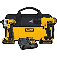 Dewalt Drill Driver/Impact Combo Kit + 84Pc Mechanics Tool Set