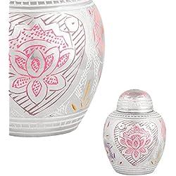 Perfect Memorials Lotus Blossom Keepsake Pet Cremation Urn