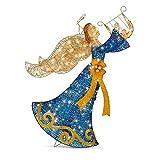 Adorno Navidad iluminado para exterior/interior- Angel de la Navidad con Harpa