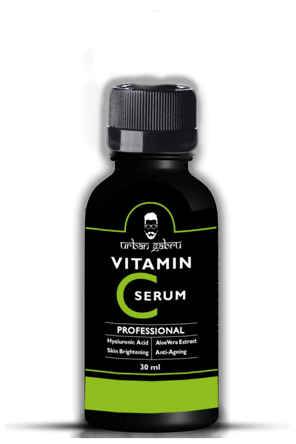 UrbanGabru Vitamin C Serum for face with hyaluronic acid, Aloe Vera extract and grape seed extract 30 ml product image