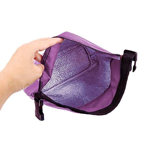 HighlifeS Lunch Bag Waterproof Thermal Fashion Cooler Insulated Lunch Box More Colors Portable Tote Storage Picnic Bags (Purple) by HighlifeS (Image #4)