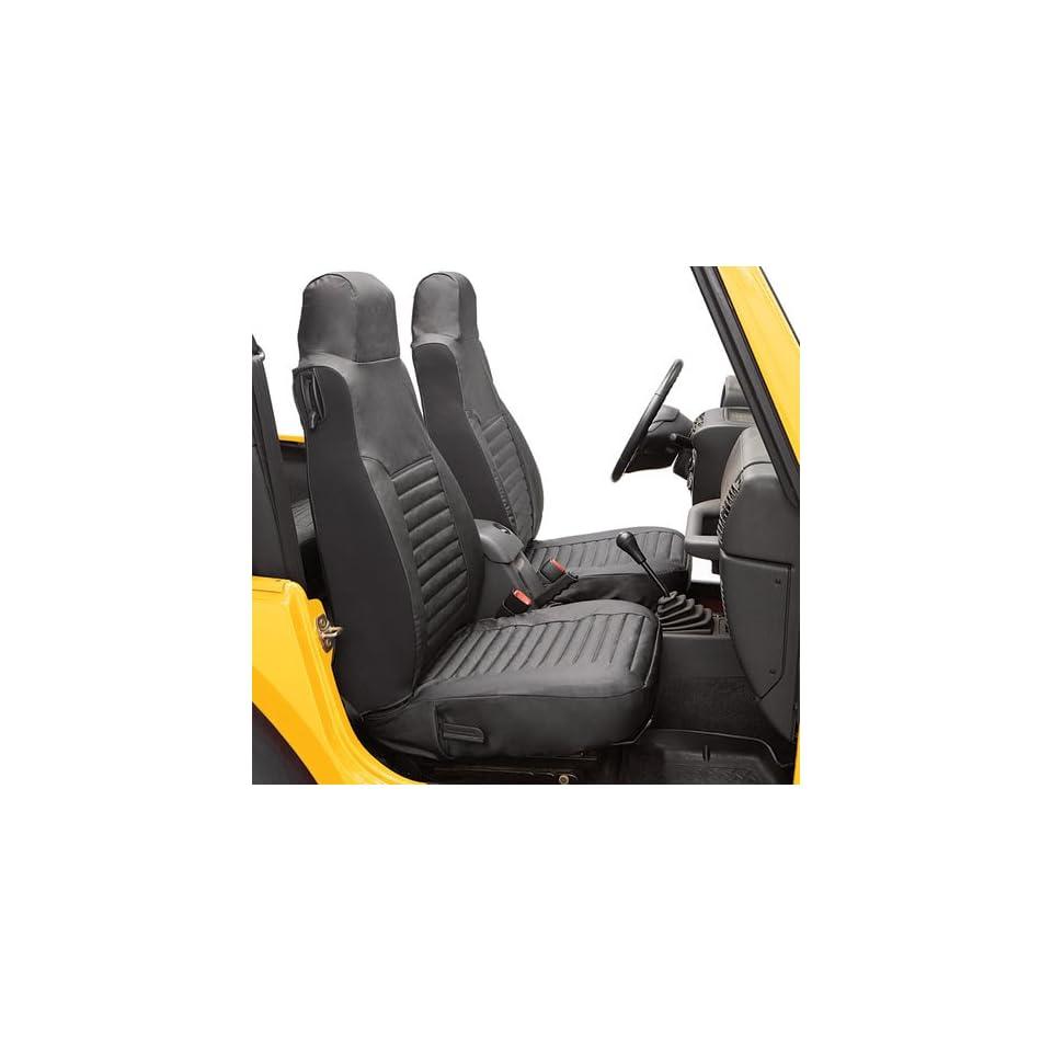 BesTop 29226 15 Jeep Wrangler Front Seat Covers   TJ / LJ   In Black Denim